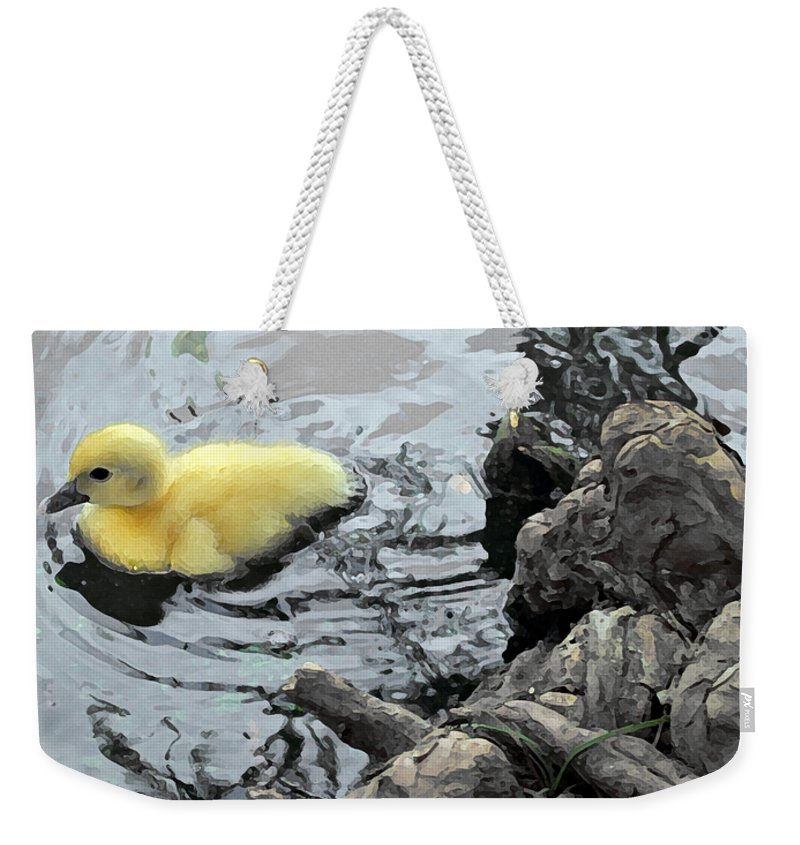 Duck Weekender Tote Bag featuring the photograph Little Ducky 2 by Angelina Vick