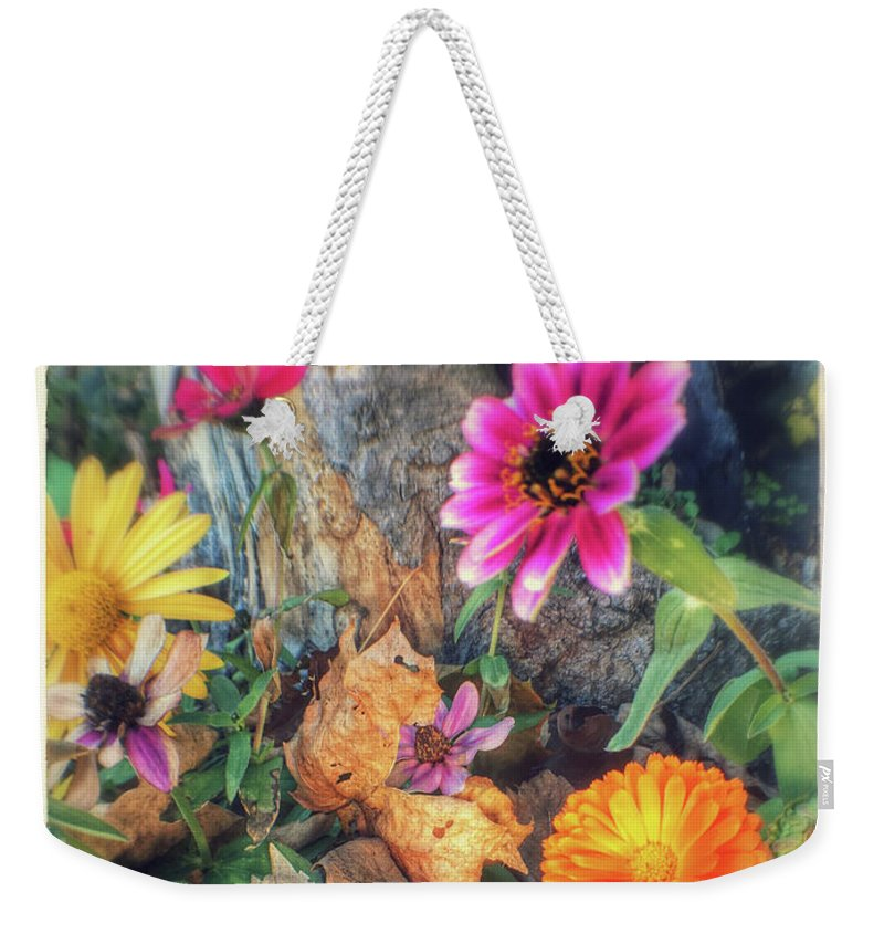 Weekender Tote Bag featuring the photograph Little Garden by Gary Andre