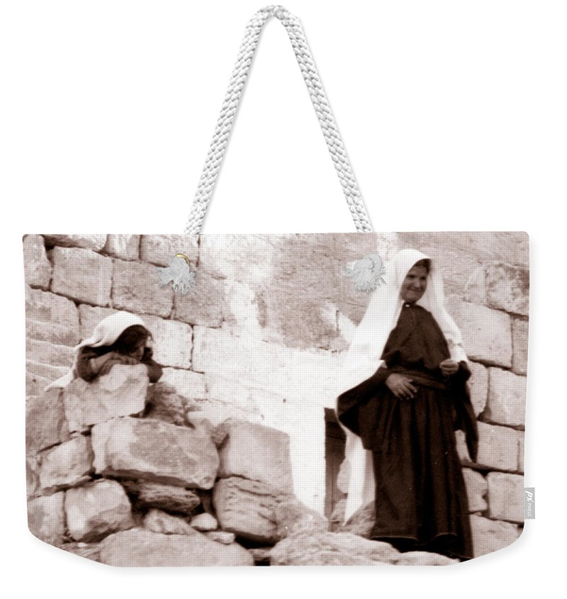 Bethlehem Weekender Tote Bag featuring the photograph Little Girl In 1946 by Munir Alawi