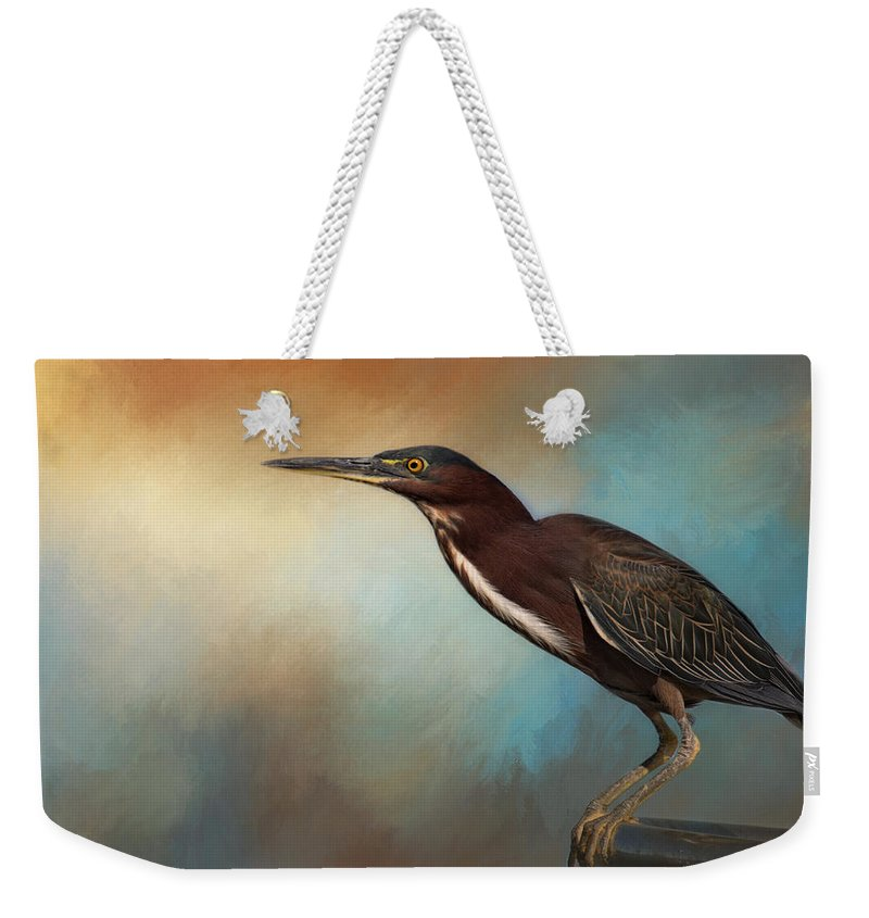 Heron Weekender Tote Bag featuring the photograph Little Green by Kim Hojnacki