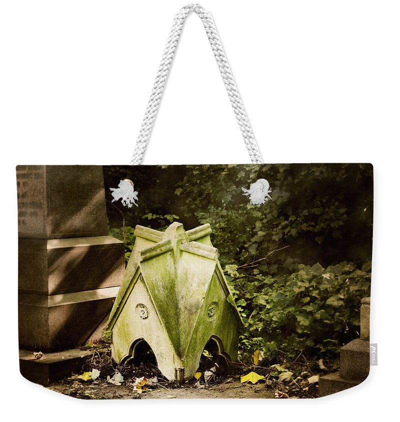 House Weekender Tote Bag featuring the photograph Little House In The Woods by Helga Novelli