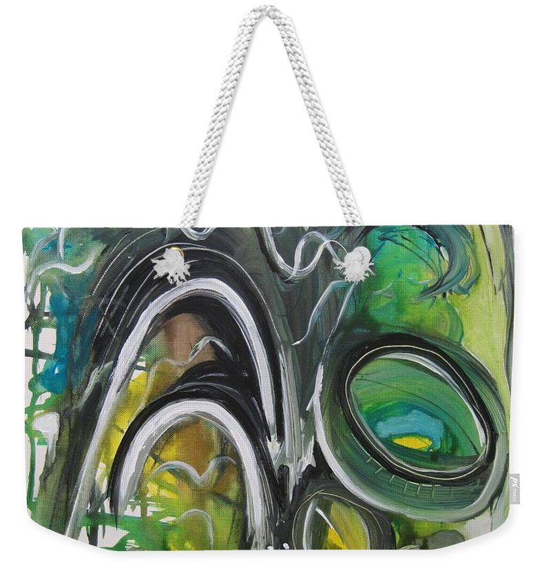 Abstract Paintings Weekender Tote Bag featuring the painting little impression on Alexander trail by Seon-Jeong Kim