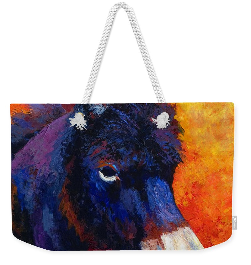 Burro Weekender Tote Bag featuring the painting Little Jack - Burro by Marion Rose