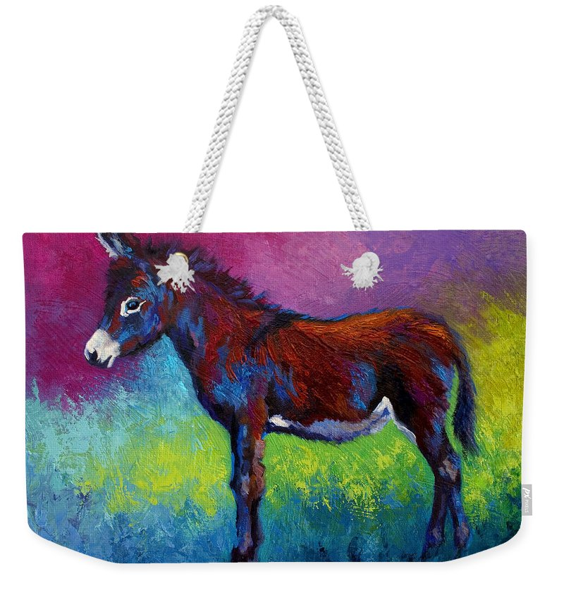 Burro Weekender Tote Bag featuring the painting Little Jenny by Marion Rose