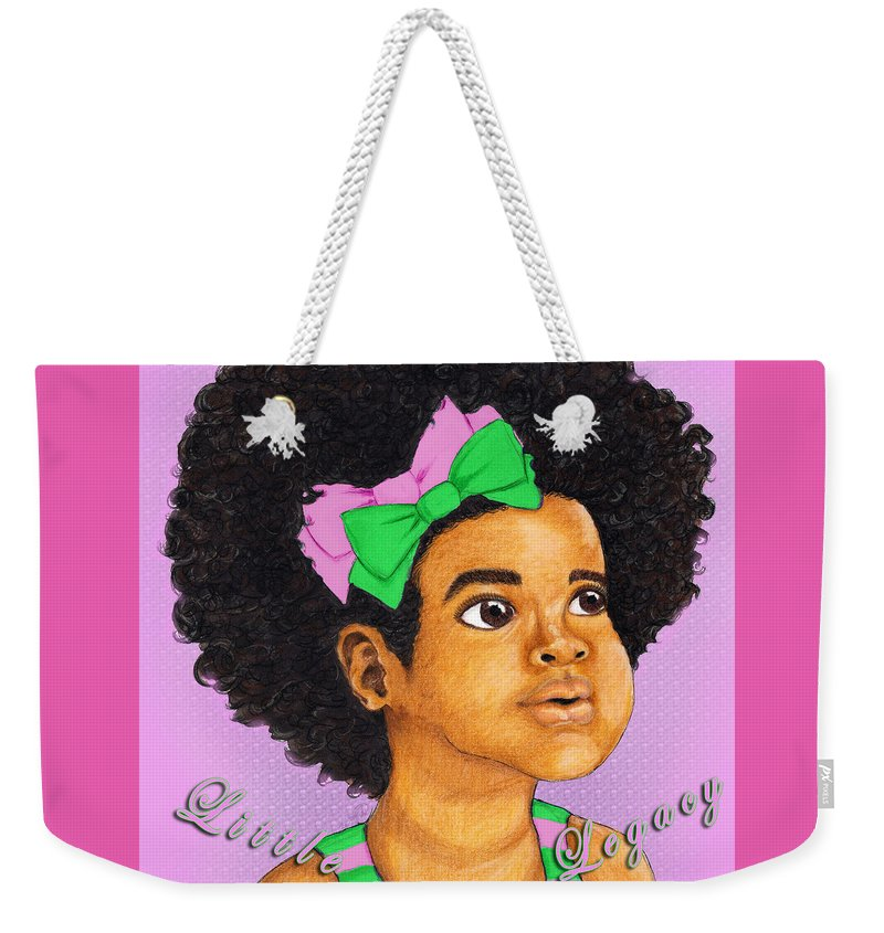 Aka Weekender Tote Bag featuring the digital art Little Legacy Series- A K A by BFly Designs