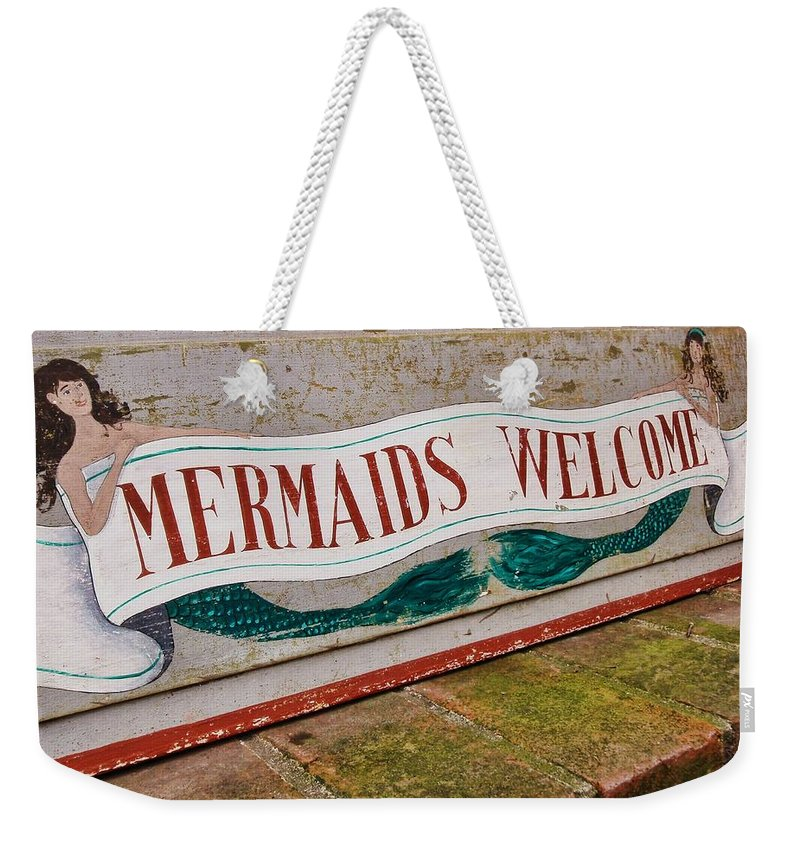 Nantucket Weekender Tote Bag featuring the photograph Little Mermaids by JAMART Photography