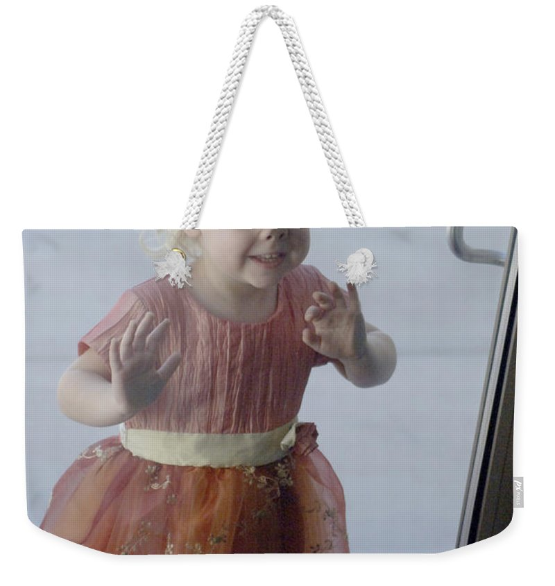Funny Weekender Tote Bag featuring the photograph Little Piggy by Jill Reger