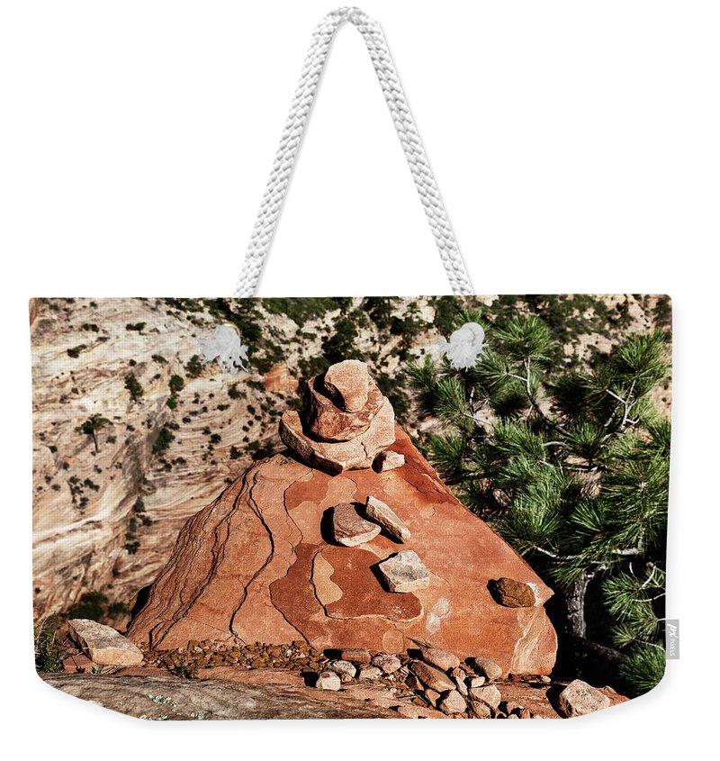 Evgeniya Lystsova Weekender Tote Bag featuring the photograph Little Pyramid by Evgeniya Lystsova