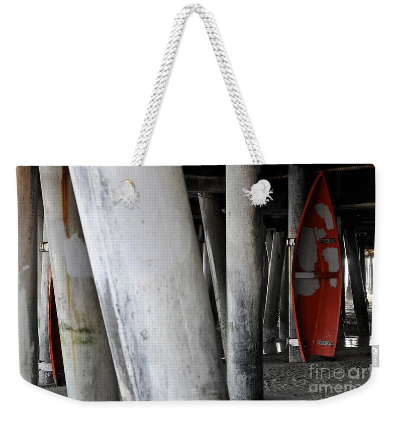 Clay Weekender Tote Bag featuring the photograph Little Red Boat II by Clayton Bruster