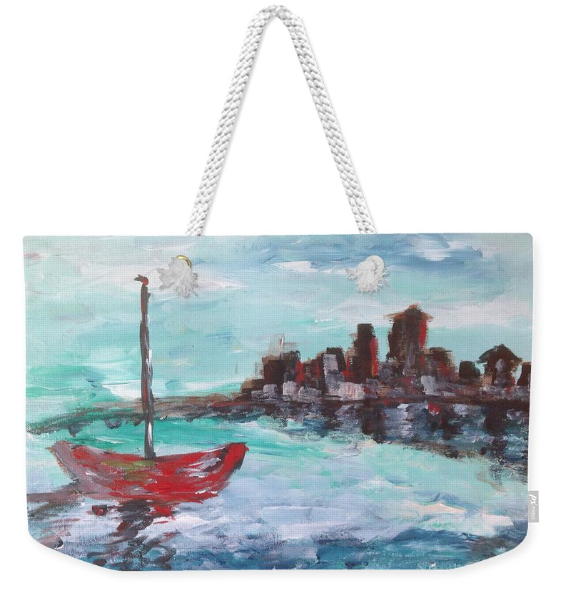 Impressionism Weekender Tote Bag featuring the painting Coast by Roxy Rich
