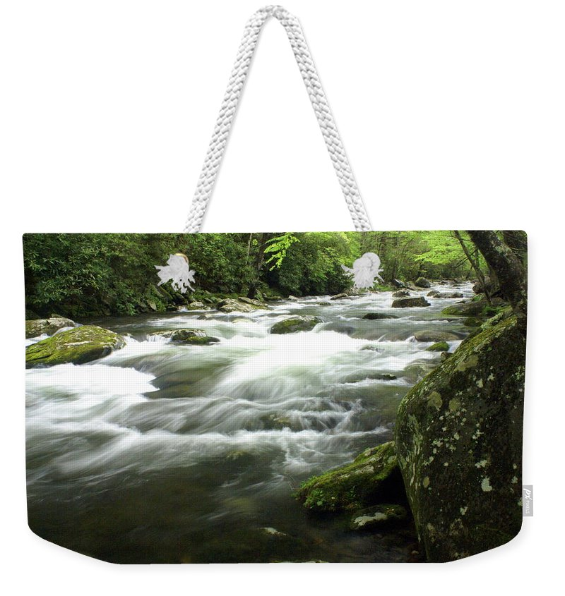 Little River Weekender Tote Bag featuring the photograph Little River 3 by Marty Koch