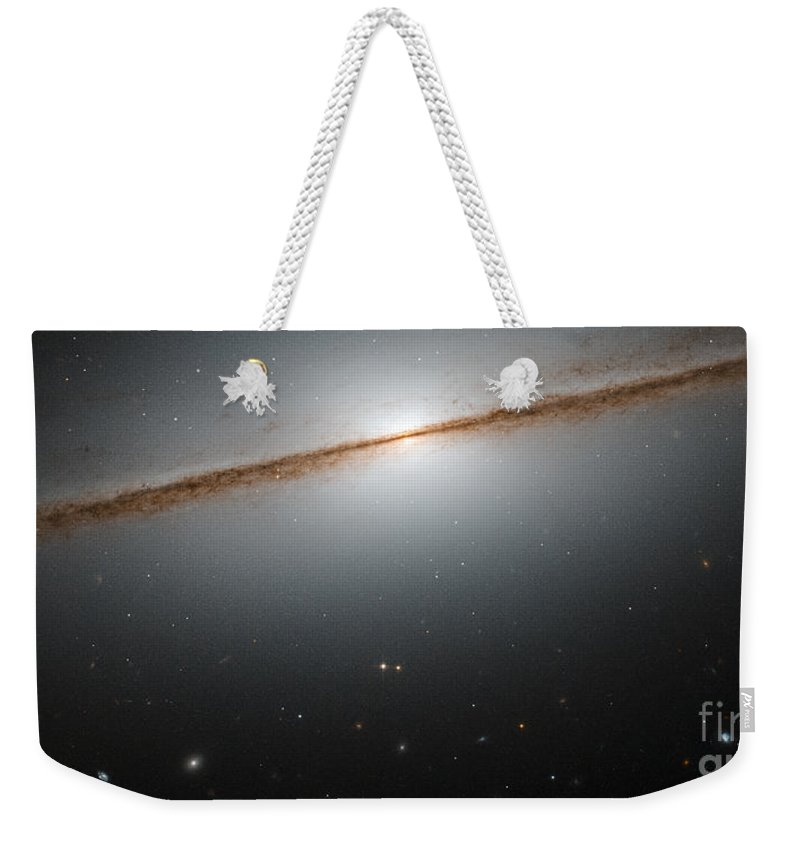Galaxy Weekender Tote Bag featuring the photograph Little Sombrero Galaxy Ngc 7814 by Science Source