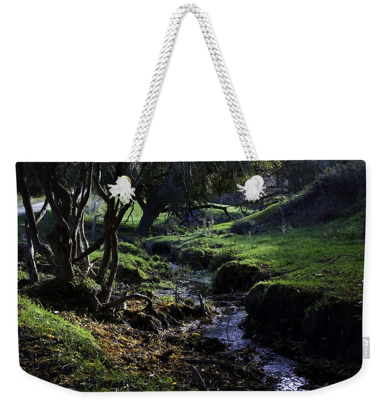 Stream Weekender Tote Bag featuring the photograph Little Stream by Kelly Jade King
