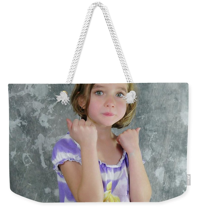 Kids Weekender Tote Bag featuring the photograph Little Tomboy by Jeff Swan