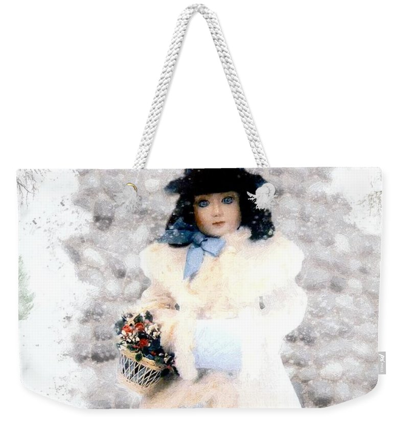 Vintage Weekender Tote Bag featuring the painting Little Visitor by RC DeWinter