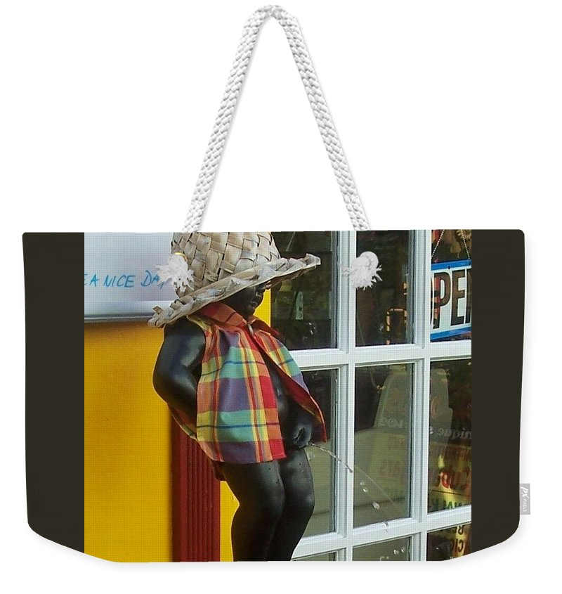 Fountain Weekender Tote Bag featuring the photograph Little Wiz by Debbi Granruth