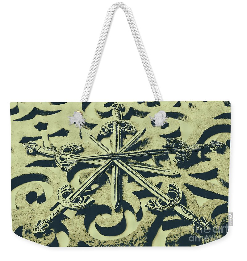 Old Weekender Tote Bag featuring the photograph Live By The Sword by Jorgo Photography - Wall Art Gallery
