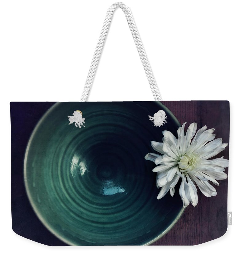Simplicity Weekender Tote Bag featuring the photograph Live Simply by Priska Wettstein