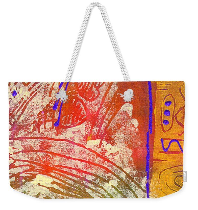 Life Weekender Tote Bag featuring the painting Live Your Life by Angela L Walker