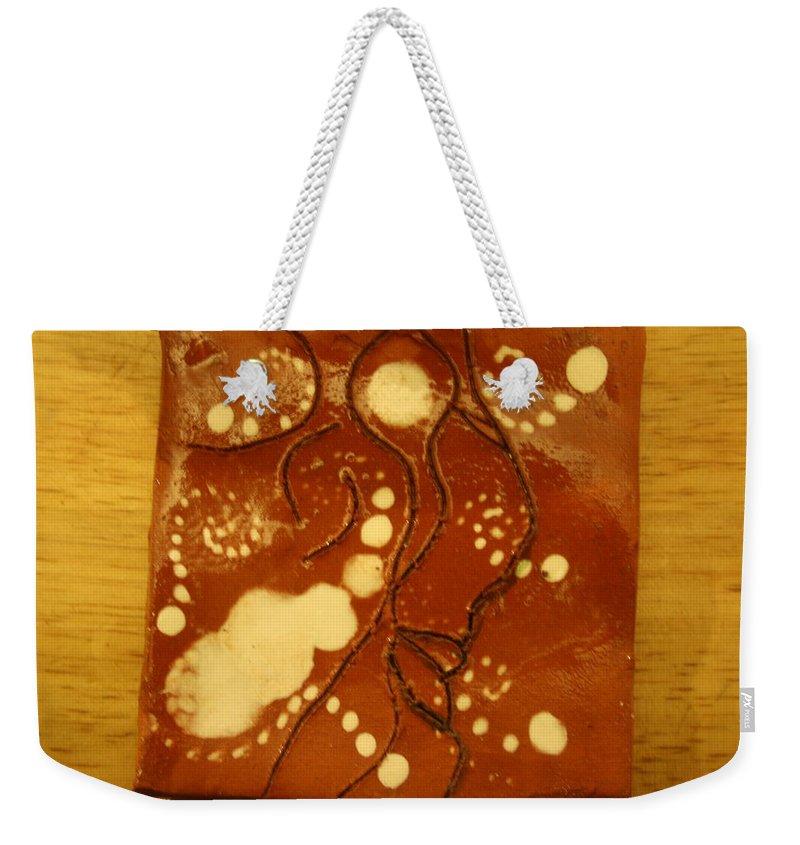 Jesus Weekender Tote Bag featuring the ceramic art Liveth - Tile by Gloria Ssali