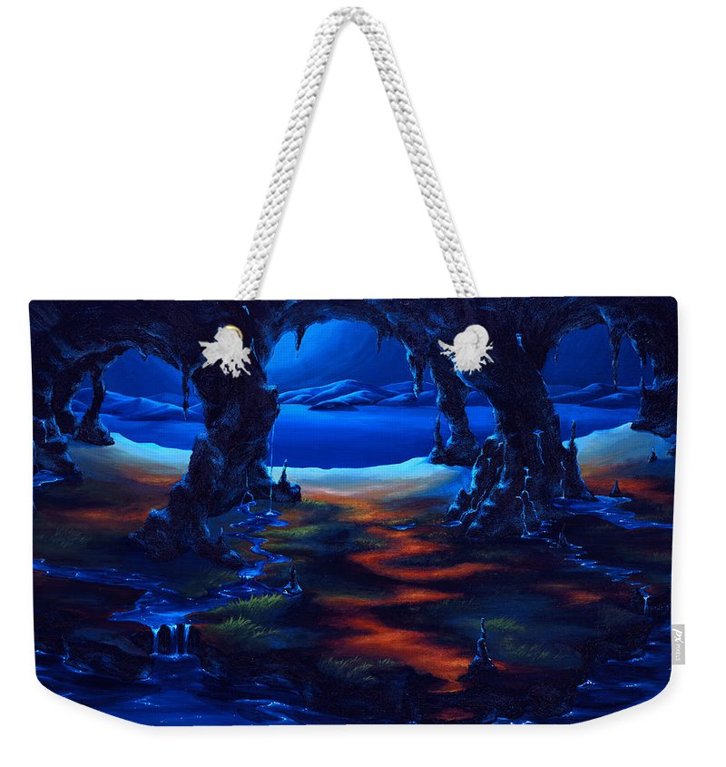 Textured Painting Weekender Tote Bag featuring the painting Living Among Shadows by Jennifer McDuffie