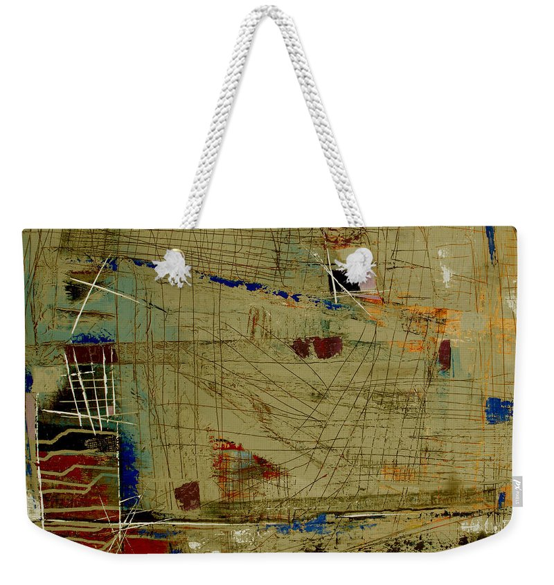 Abstract Weekender Tote Bag featuring the painting Living Dangerously by Ruth Palmer