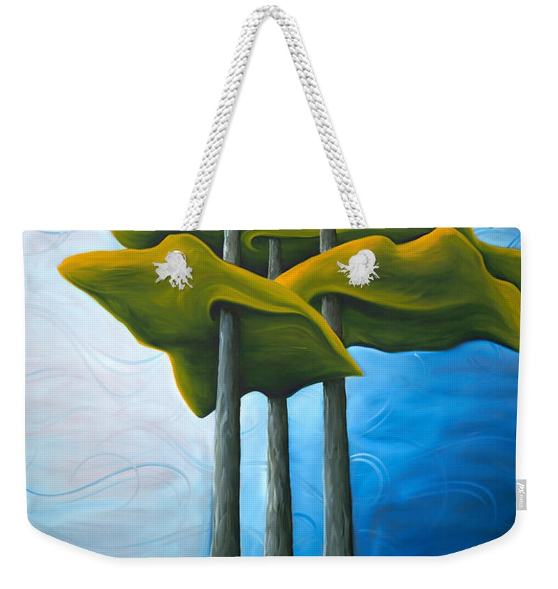 Landscape Weekender Tote Bag featuring the painting Living In The Shadow by Richard Hoedl