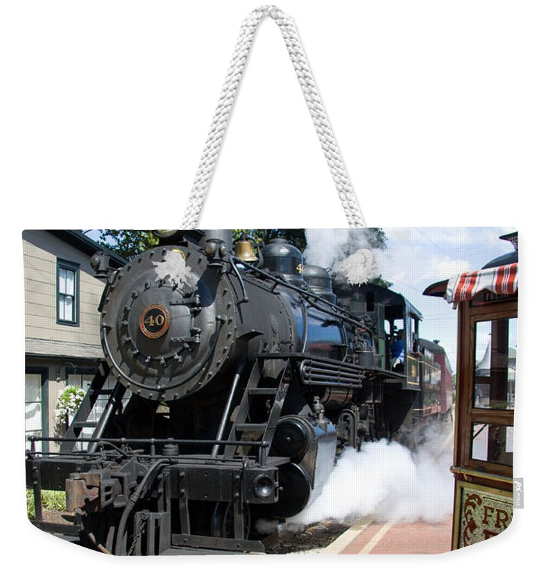 Steam Engine Weekender Tote Bag featuring the photograph Living Steam by Bob Kemp