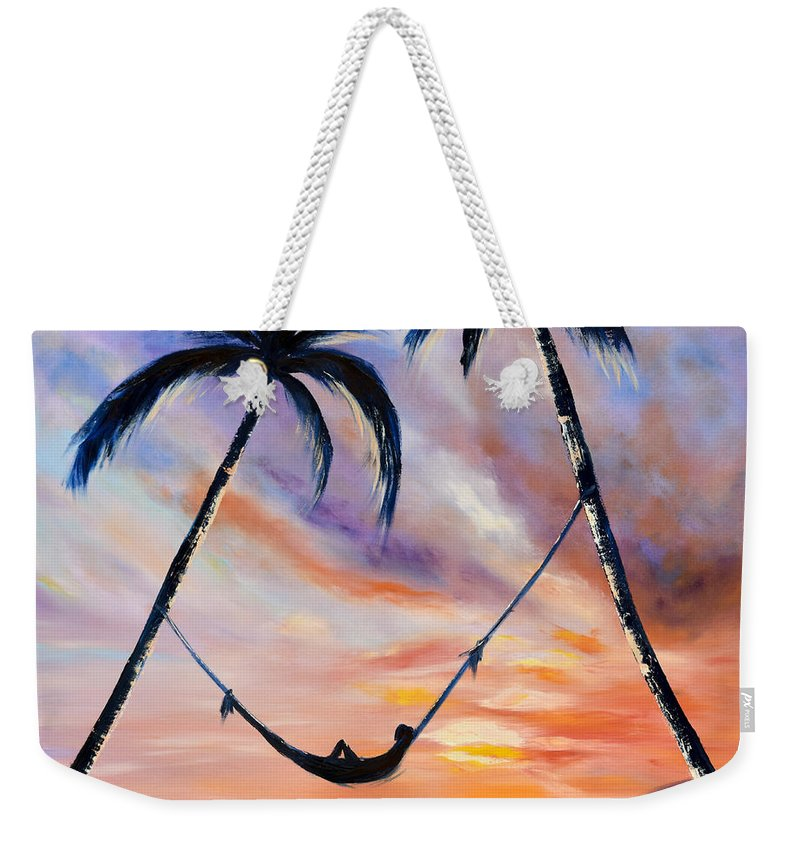 Sunset Weekender Tote Bag featuring the painting Living The Dream by Gina De Gorna
