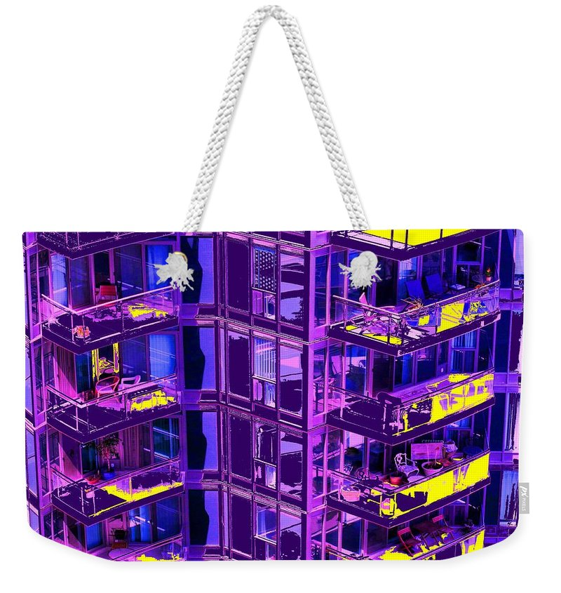 Urban Weekender Tote Bag featuring the photograph Living Wall by Ian MacDonald