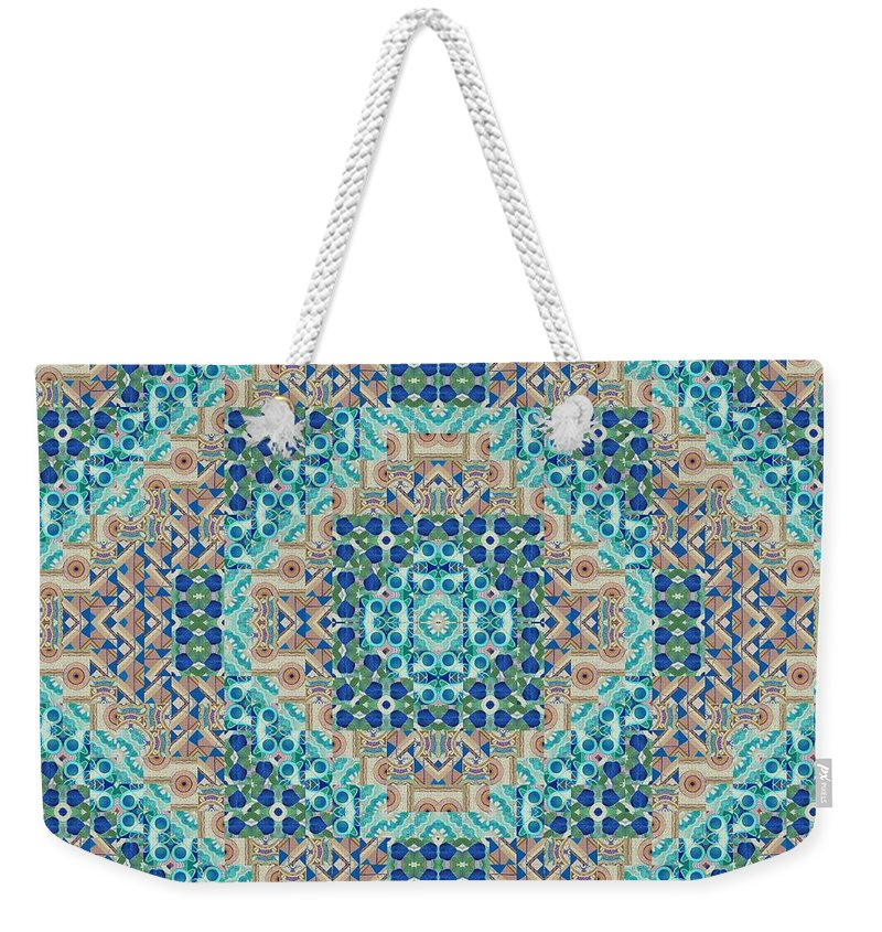 Abstract Weekender Tote Bag featuring the digital art Living With Endless Potential 2 - A T J O D 5-6 Compilation Inverted by Helena Tiainen