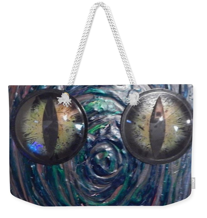 Lizard Reptile Animal Weekender Tote Bag featuring the painting Lizard Man by Dennis Young