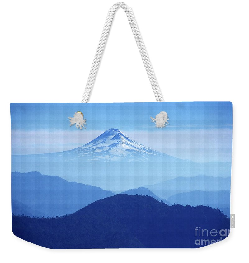 Chile Weekender Tote Bag featuring the photograph Llaima Volcano Chile by James Brunker