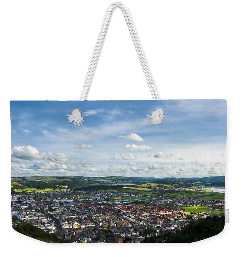 Aqua Weekender Tote Bag featuring the photograph Llandudno View by Svetlana Sewell