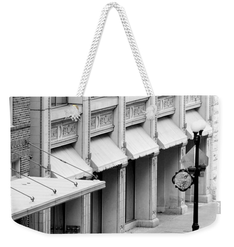 Architecture Weekender Tote Bag featuring the photograph Loan Bike by Jill Reger