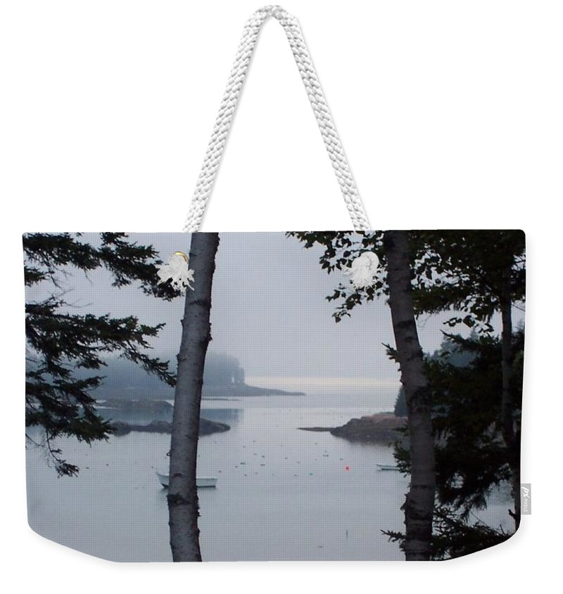 Landscape Weekender Tote Bag featuring the photograph Lobster Cove by Lisa Kane
