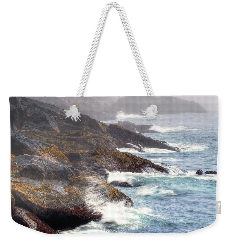 Maine Weekender Tote Bag featuring the photograph Lobster Cove by Tom Cameron