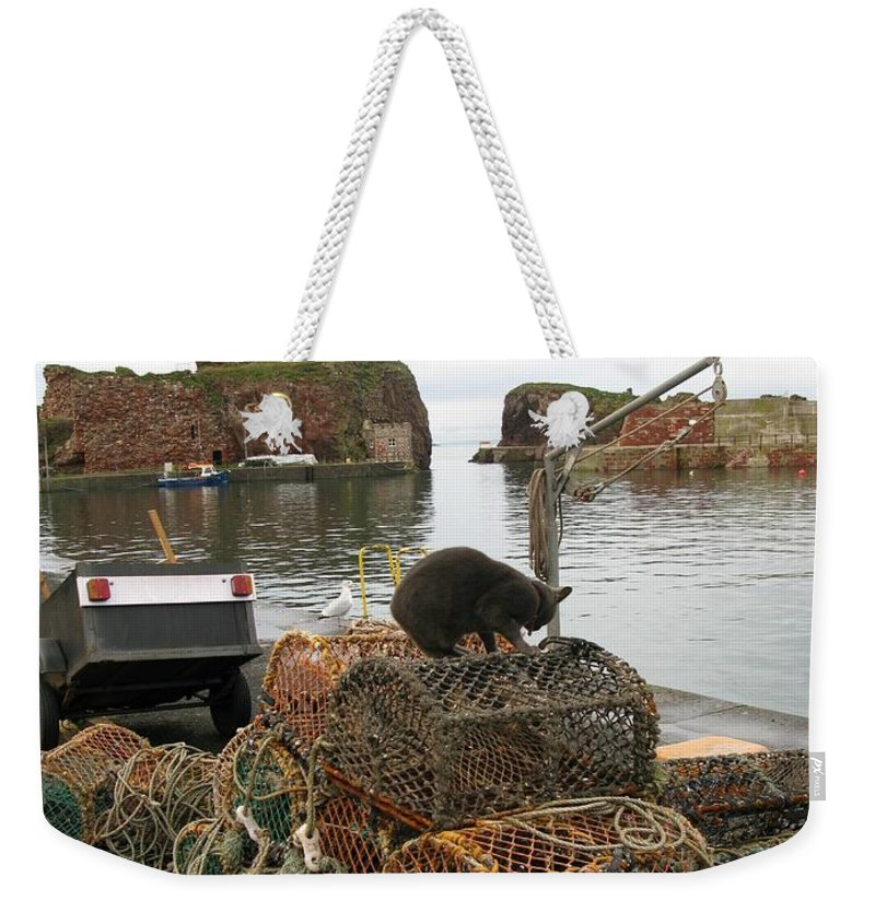 Lobser Pots Weekender Tote Bag featuring the photograph Lobster Pots by Maria Joy