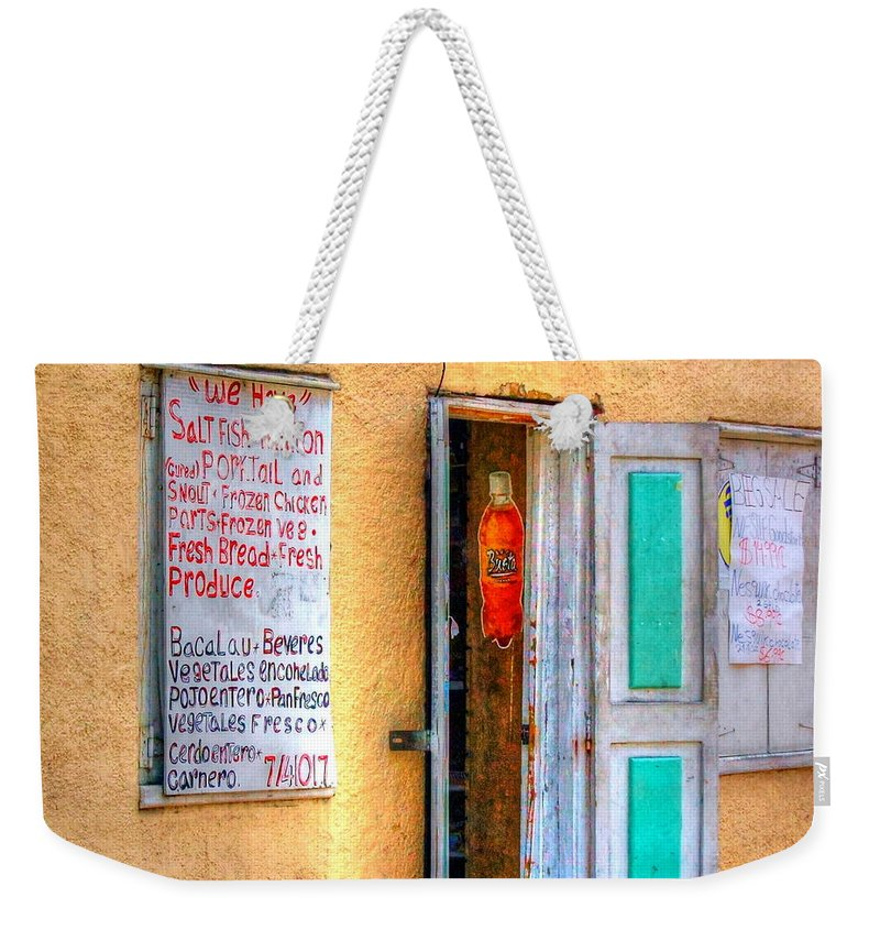 Store Weekender Tote Bag featuring the photograph Local Store by Debbi Granruth