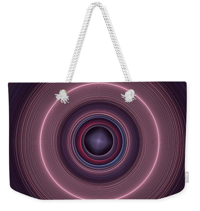 Weekender Tote Bag featuring the digital art Local Subspace Vibrations by Doug Morgan