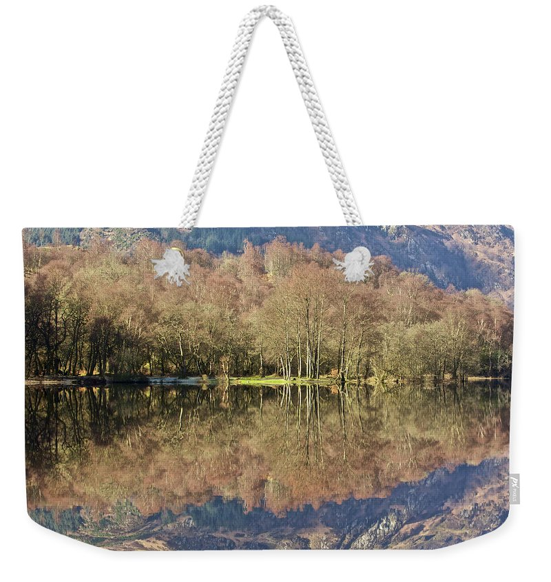 Abstract Weekender Tote Bag featuring the photograph Loch Achray by Colette Panaioti