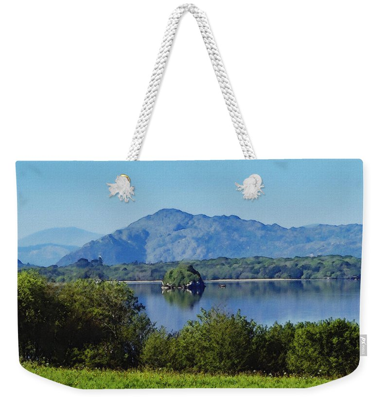 Irish Weekender Tote Bag featuring the painting Loch Leanne Painting Killarney Ireland by Teresa Mucha