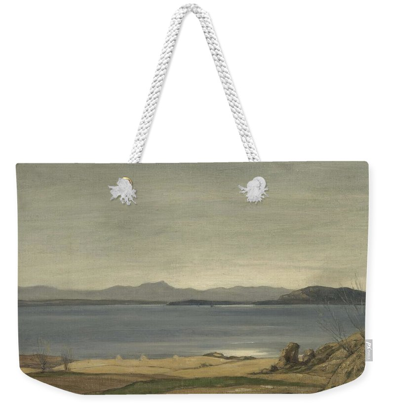 Nature Weekender Tote Bag featuring the painting Loch Nell, 1930-1935, By Sir David Cameron by Sir David Cameron