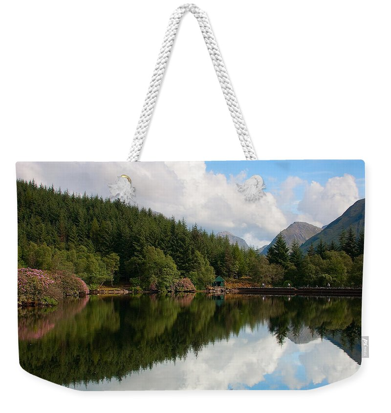Scotland Weekender Tote Bag featuring the photograph Lochan Glencoe by Colette Panaioti