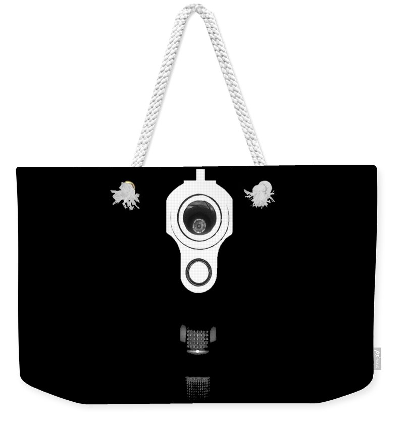 Gun Weekender Tote Bag featuring the photograph Locked And Loaded .png by Al Powell Photography USA