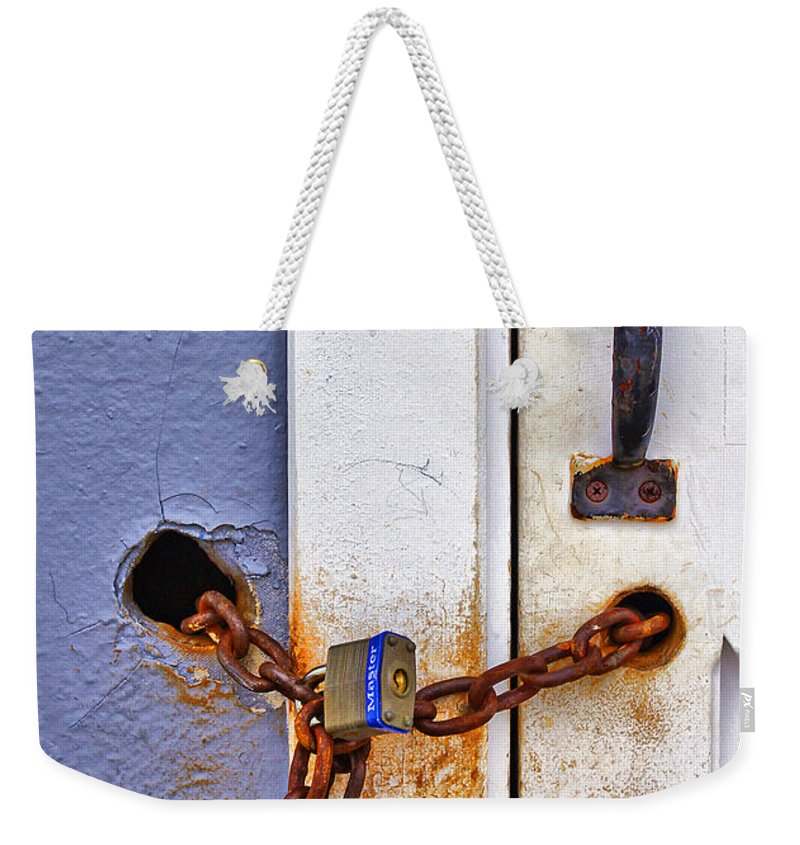 Beach Weekender Tote Bag featuring the photograph Locked Out by Evelina Kremsdorf