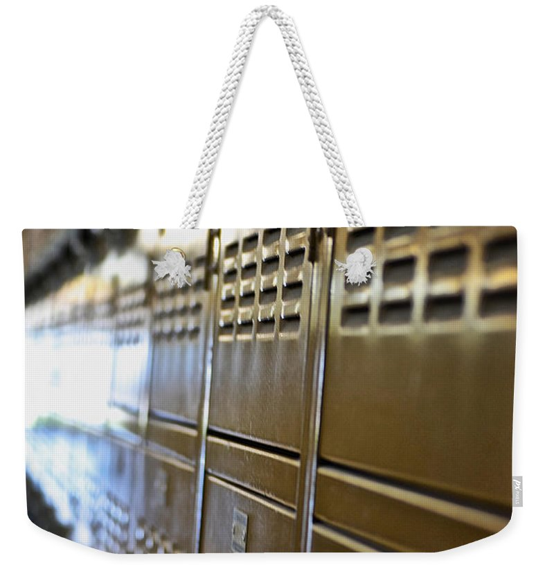 Lockers Weekender Tote Bag featuring the photograph Lockers by Bill Owen