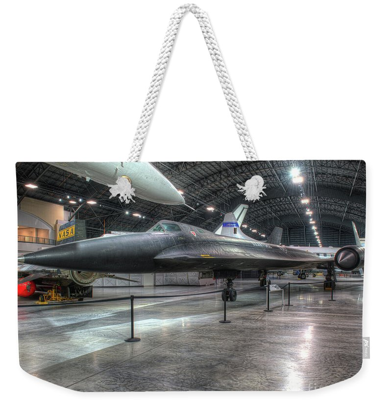 Dayton Weekender Tote Bag featuring the photograph Lockheed Yf-12a by Greg Hager