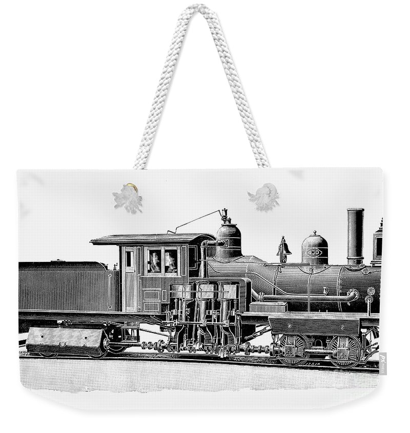 1893 Weekender Tote Bag featuring the photograph Locomotive, 1893 by Granger