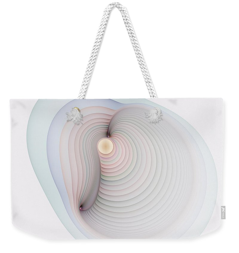 Fractal Weekender Tote Bag featuring the digital art Locus Of All Points by Richard Ortolano